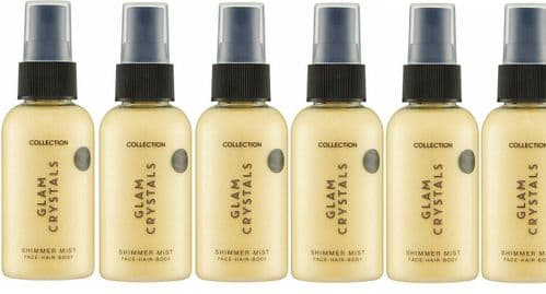12 x Collection Glam Crystals | Shake to Wake | Shimmer Mist | Face,Hair,Body